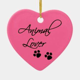 Animal Lover-paws Ceramic Ornament