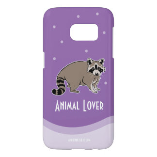 Animal Lover With Raccoon Friend
