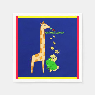 Animal Lovers Napkins Disposable Serviette
