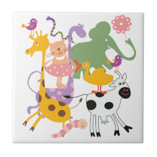 Animal Menagerie Small Square Tile
