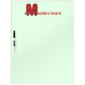 animal monogram - M Dry Erase Board