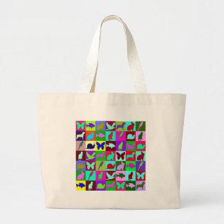 Animal mosaic bags