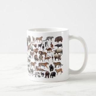 Animal of the world coffee mug