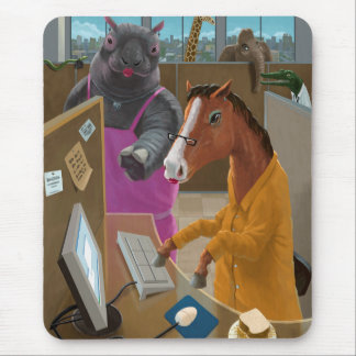 Animal Office Mouse Pad