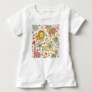 animal paint baby bodysuit