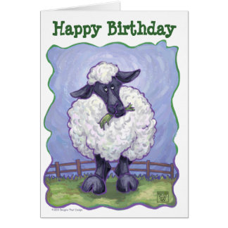 Animal Parade Sheep Art Happy Birthday Card