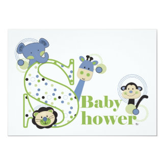 Animal Park Baby Shower Invitation
