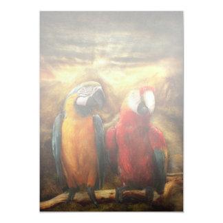 Animal - Parrot - Parrot-dise 13 Cm X 18 Cm Invitation Card