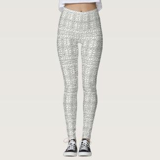 Animal Pattern#44 Designer Tights Legging White
