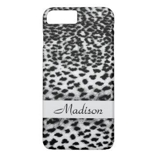 Animal pattern black and white monogram iPhone 7 plus case