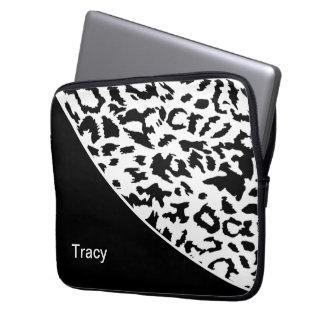 Animal Pattern Monogram Laptop Sleeve