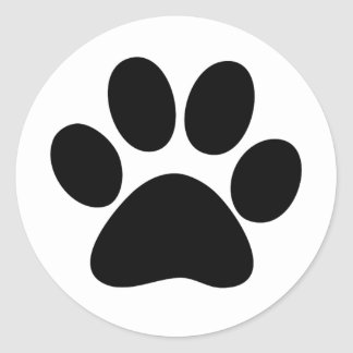 Animal Paw Classic Round Sticker