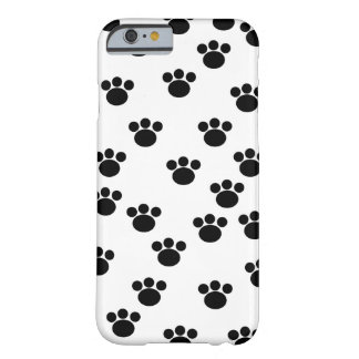 Animal Paw Pattern. Black and White. Barely There iPhone 6 Case