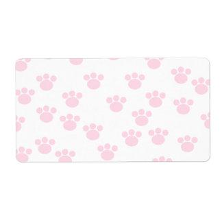 Animal Paw Print. Light Pink and White Pattern.