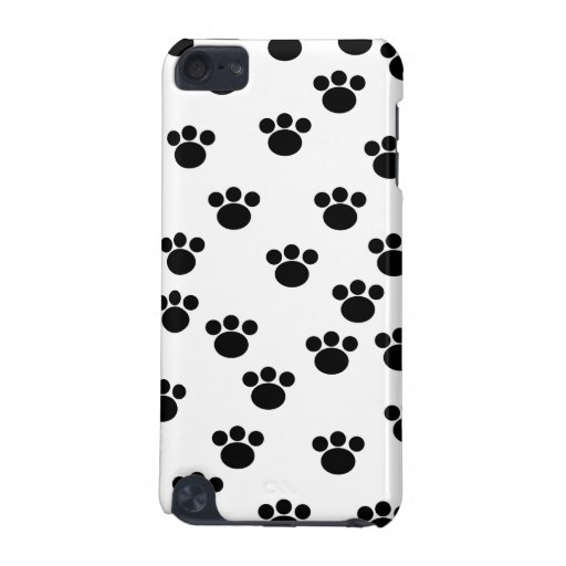 Animal Paw Print Pattern. Black and White. iPod Touch (5th Generation) Covers