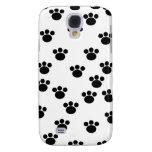 Animal Paw Print Pattern. Black and White. Samsung Galaxy S4 Case