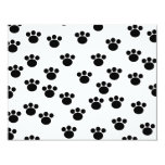 Animal Paw Print Pattern. Black and White. Custom Announcements