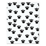 Animal Paw Print Pattern. Black and White. Custom Invite