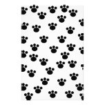 Animal Paw Print Pattern. Black and White. Personalized Stationery