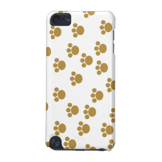 Animal Paw Prints. Brown and White Pattern. iPod Touch 5G Covers