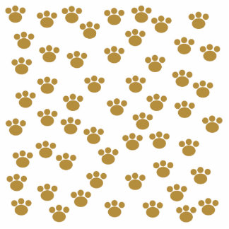 Animal Paw Prints. Brown and White Pattern. Photo Cutout