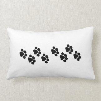 Animal Paw Prints Lumbar Pillow
