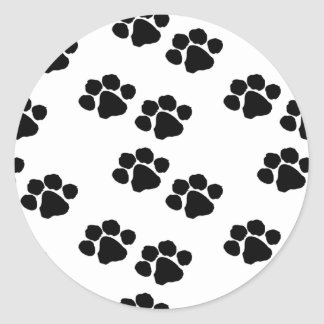 Animal Paw Prints Round Sticker