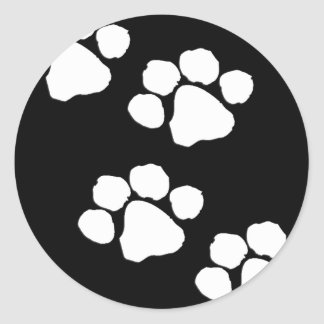 Animal Paw Prints Round Sticker