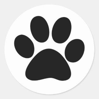 Animal Paw Round Sticker
