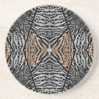 Animal Print Abstract Beverage Coaster