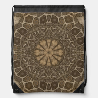 Animal Print Abstract Drawstring Bag