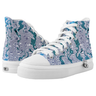 Animal Print, Abstract. High Tops