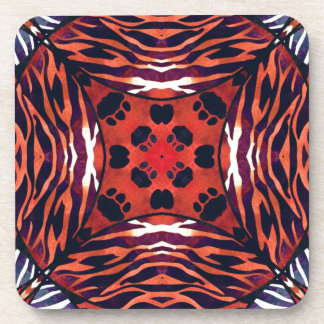 Animal Print Abstract Pattern Beverage Coaster