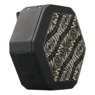 Animal Print Abstract Pattern Custom Gifts Black Boombot Rex Bluetooth Speaker