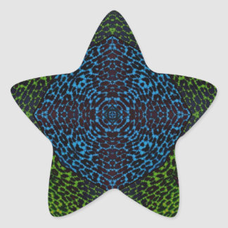 Animal Print Abstract Star Sticker