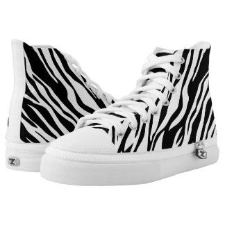 Animal print black and white printed shoes