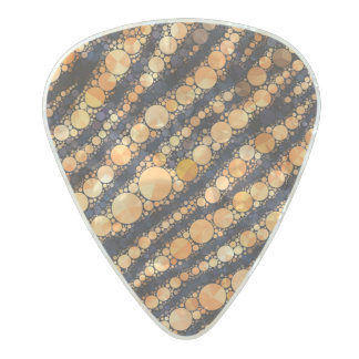Animal Print Bling Pearl Celluloid Guitar Pick
