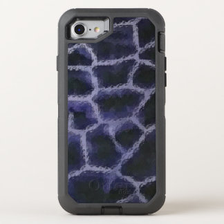 Animal Print Blue OtterBox Defender iPhone 8/7 Case
