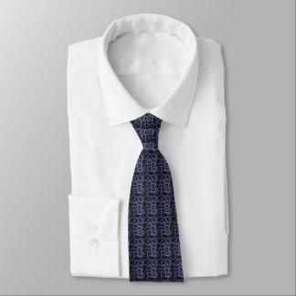 Animal Print Blue Tie