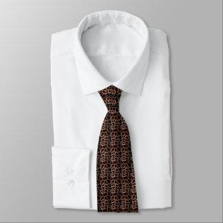 Animal Print Brown Tie