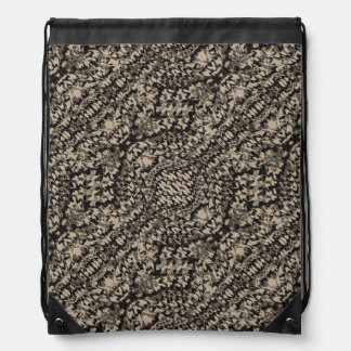 Animal Print Camo Pattern Drawstring Bag