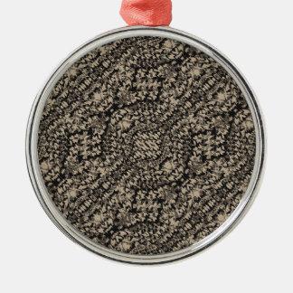 Animal Print Camo Pattern Metal Ornament