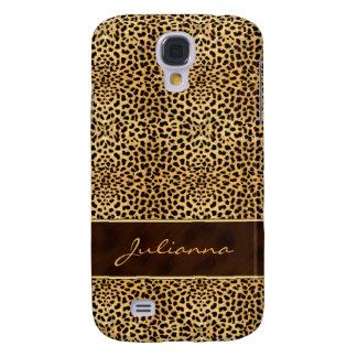 Animal Print Cheetah in Natural Hues Galaxy S4 Covers