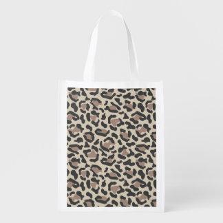 Animal print design reusable grocery bag