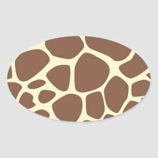 Animal Print (Giraffe Pattern) - Brown Yellow Stickers