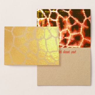 Animal Print Gold and Brown Foil Card