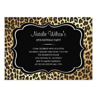 Animal Print Leopard Invitations