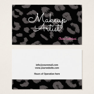 Animal Print Makeup Artist Business Card