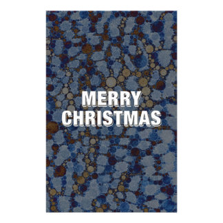 Animal Print Merry Christmas Personalized Stationery