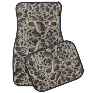 Animal Print Ocelot Car Mat